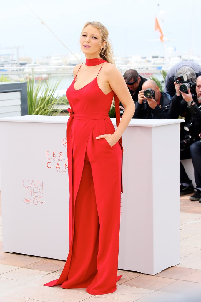 Blake Lively Showed the First Sign of Her Baby Bump in a Juan Carlos Obando Jumpsuit
