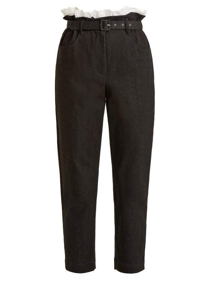 Isa Arfen Denim Cropped Trousers