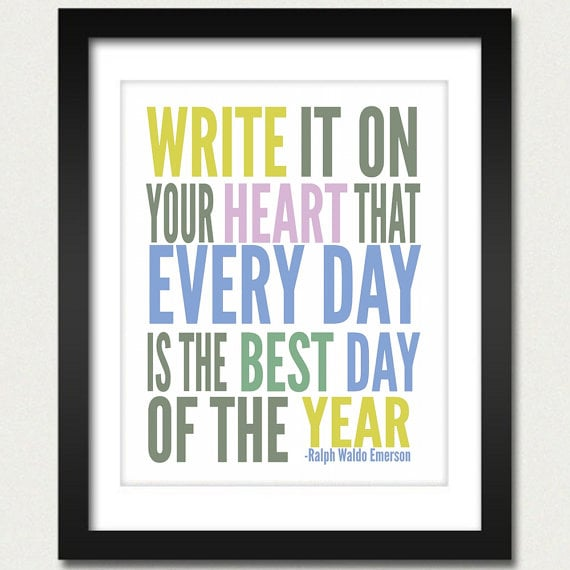 All the colours come together for word-art perfection in this Write It on Your Heart Print (approx $10).