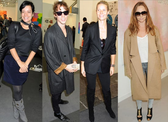 Gallery of Photos of Gwyneth Paltrow and Lily Allen Without Make Up on At Frieze Art Fair,