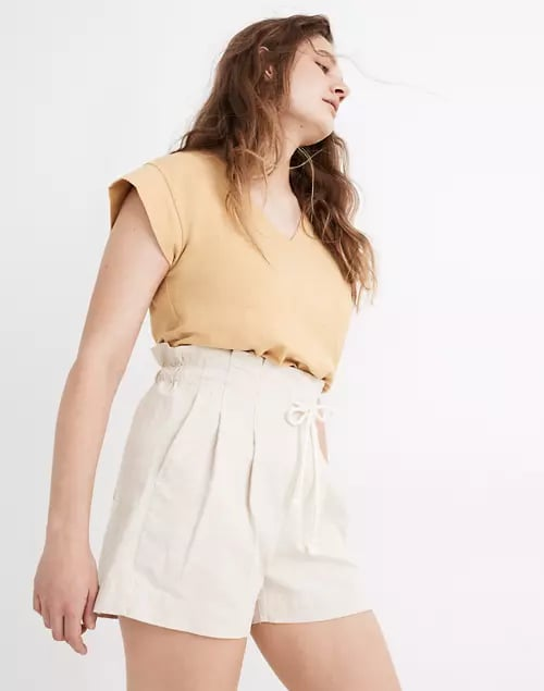Madewell Drawstring Pull-On Paperbag Shorts