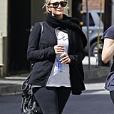 Ashlee Simpson may be quite pregnant, but it didn't stop her from working out on Thursday in LA.