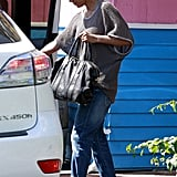 Halle Berry left Pink Taco on the Sunset Strip in LA.
