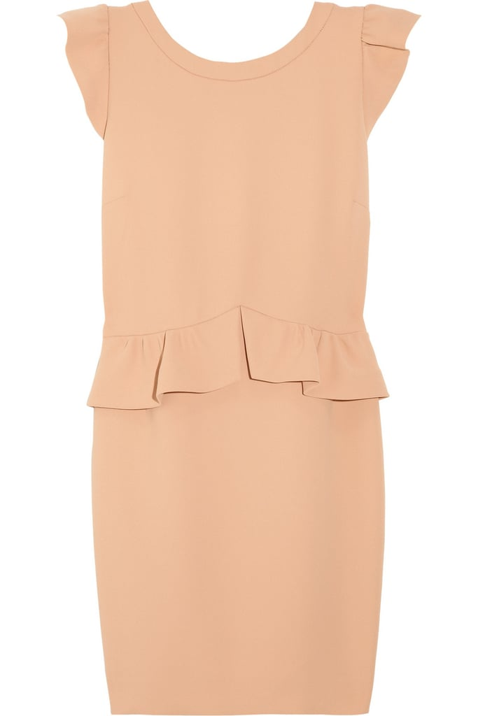 Sandro Resonance Crepe Peplum Dress ($320)