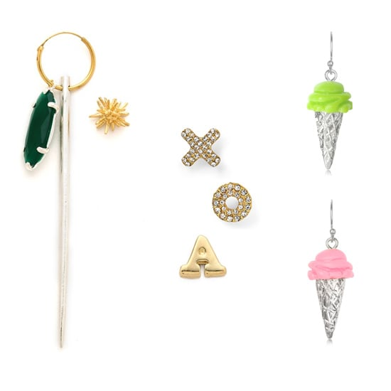 2013 Accessories Trends: Mismatched, Asymmetrical Earrings