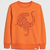 Things are taking a turn for the prehistoric with this Kids Graphic Sweatshirt ($25), which any dino fan will love wearing to school.