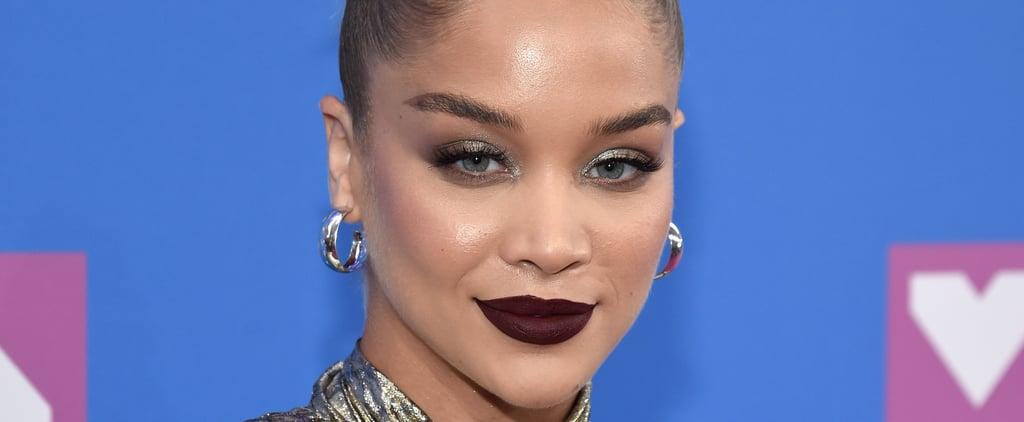 Jasmine Sanders's Dark Lipstick at the 2018 MTV VMAs
