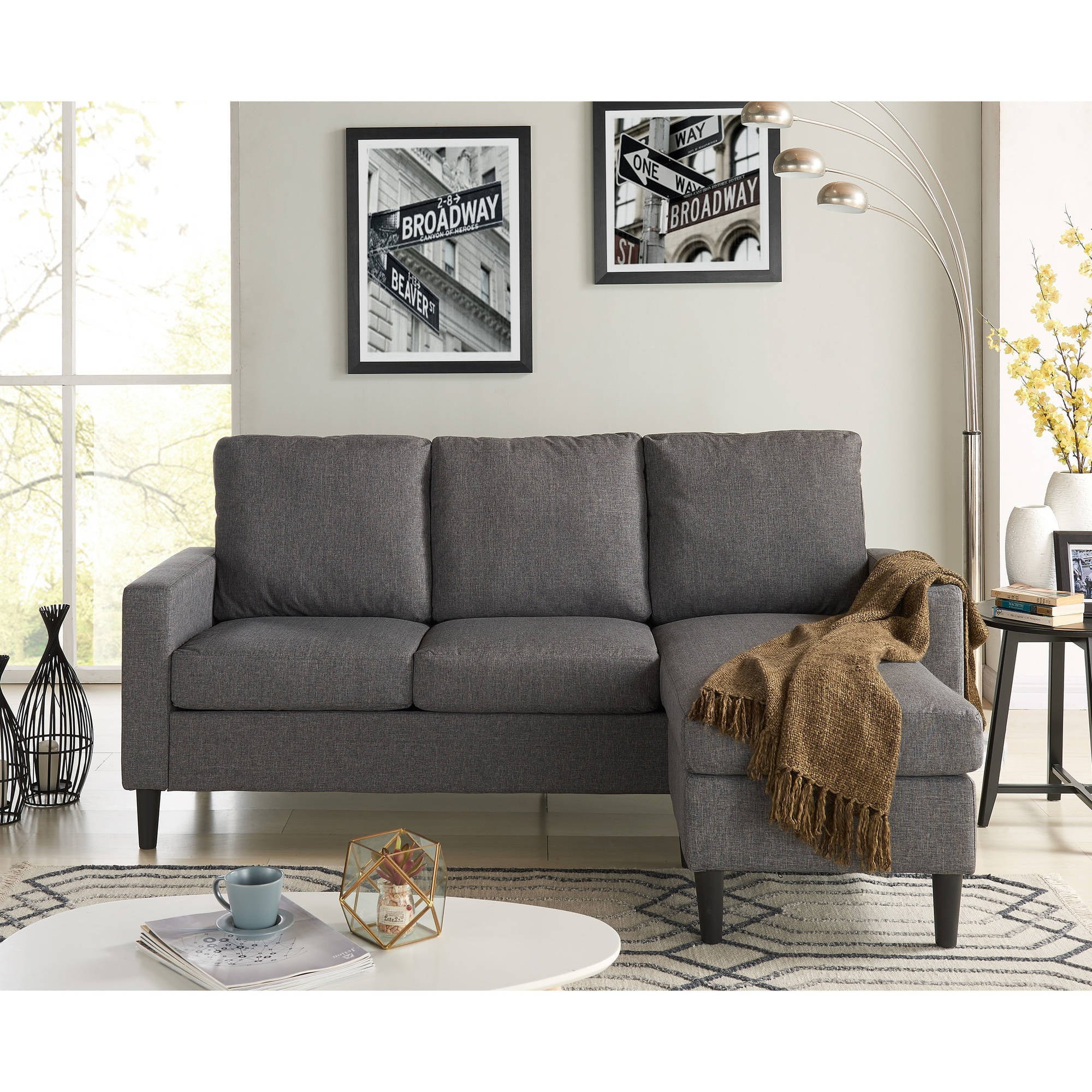 Mainstays Apartment Reversible Sectional | 14 Small Sofas ...