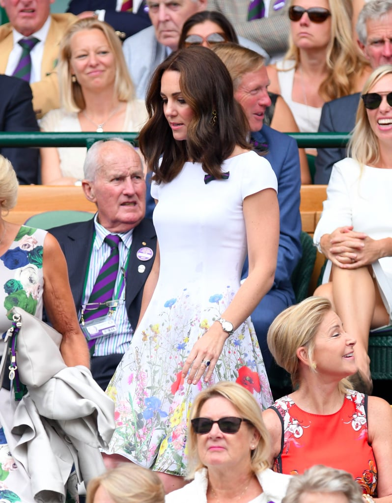 The Duchess of Cambridge Puts a Royal Spin on Her Floral Dress at Wimbledon