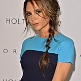 Victoria Beckham looked glamourous with her hair in a braid for the presentation of her collection in Vancouver.