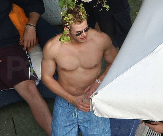 Slide Photo of Kellan Lutz Shirtless in Miami on New Year's Eve