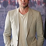 He rocked a blazer and newsboy cap at a photocall for his film The Assassination of Jesse James in France in September 2007.