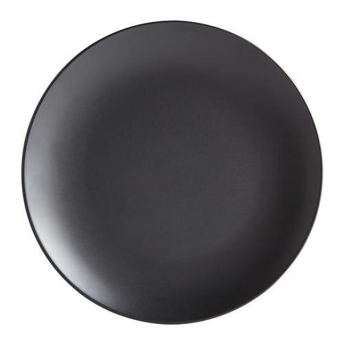 Matte Black Stoneware Dinner Plate