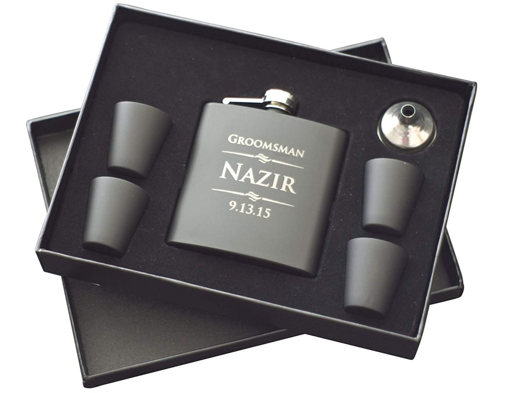 The Personalized Gift 6-Piece Custom Engraved Flask Set