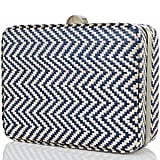 8ad663203848 ... Nantucket raffia meets nautical chevron in this two-in-one bag. Carry it  ...