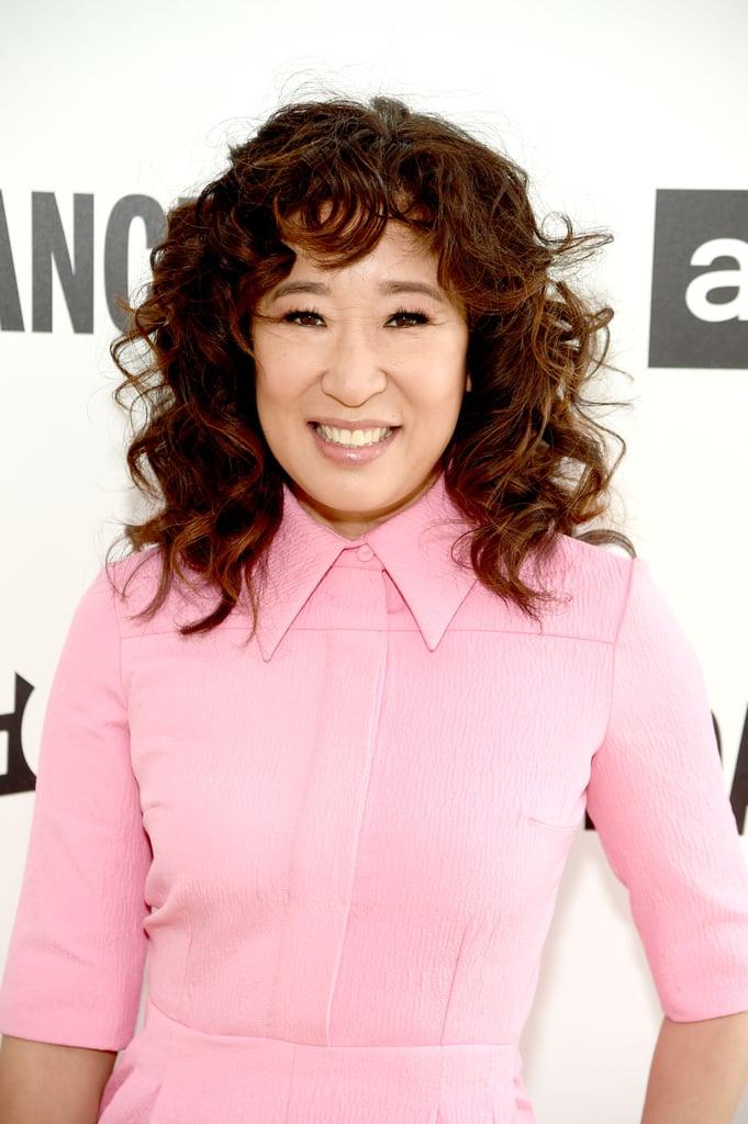 Sandra Oh's Curly Bangs