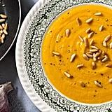 Sweet Potato, Caramelised Garlic, and Pine Nut Soup