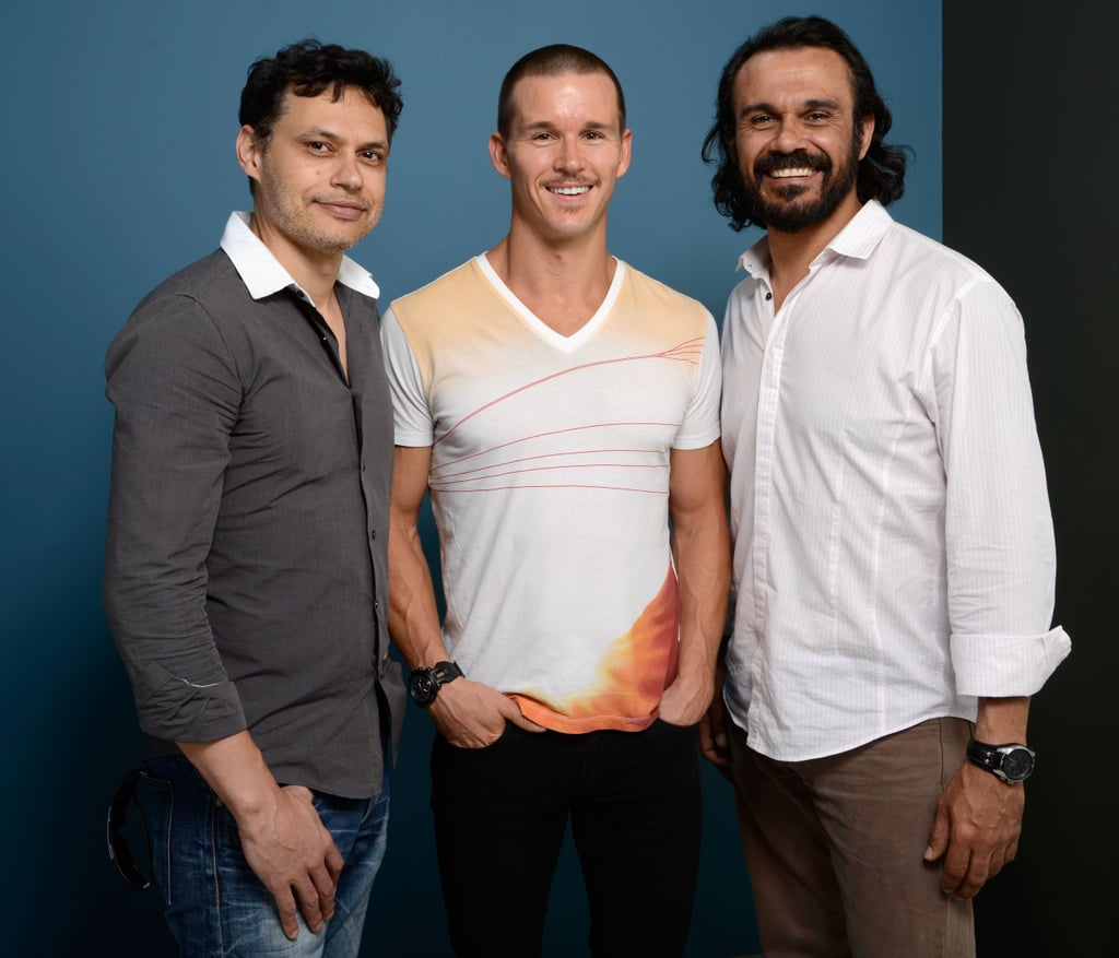Director Ivan Sen and actors Ryan Kwanten and Aaron Pederson joined forces at the Mystery Road portrait session.