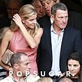 Lance Armstrong was a guest at Lake Bell and Scott Campbell's New Orleans wedding in June 2013.