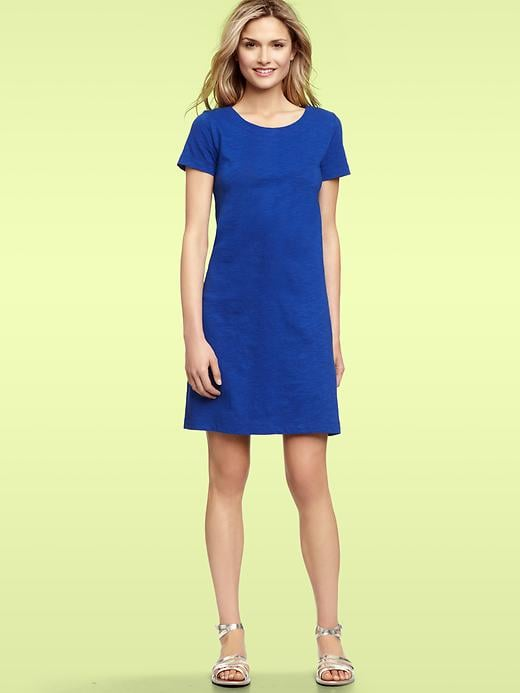 A basic crewneck dress is a perfect place to start — add wedged sandals, belt the waist, and you're on your way.  Gap Solid Crewneck Dress ($50)