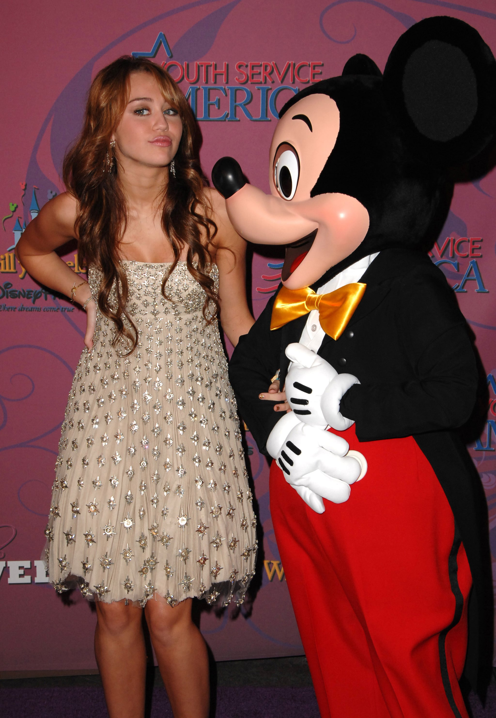 Miley Cyrus celebrated her 16th birthday with Mickey in October 2008.