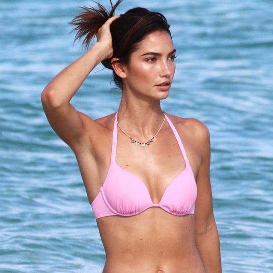 Lily Aldridge and Taylor Hill Wearing Bikinis in St. Barts