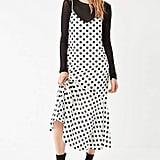 Urban Outfitters Polka-Dot Ruffle-Hem Maxi Dress