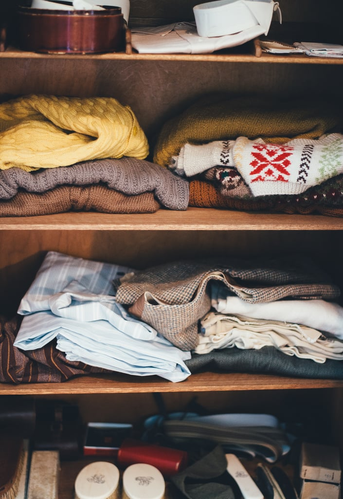 Go through your closet and make a collection of clothes to donate.