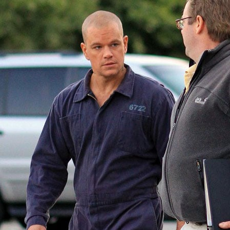 Matt Damon on Set of Elysium Pictures