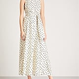 Diane Von Furstenberg Polka Dot Print Silk Midi Dress