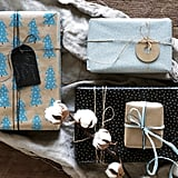 Vinter 2019 Blue and Beige Gift Wrap Rolls
