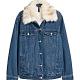 H&M Pile-Lined Denim Jacket