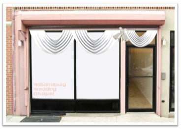 303Grand in Brooklyn Turns Into a Pop-Up Wedding Chapel
