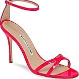 Manolo Blahnik Paloma Neon Ankle Strap Sandal