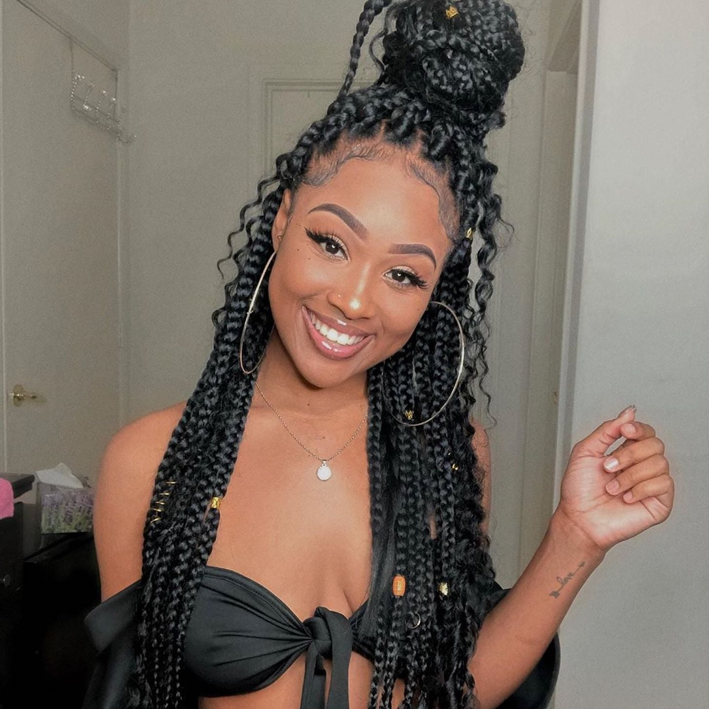 Best Bohemian Box Braids Hairstyle Ideas Popsugar Beauty