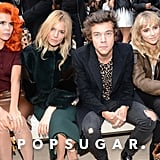 Paloma Faith, Sienna Miller, Harry Styles, and Suki Waterhouse sat in the front row.