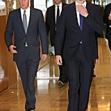 """Prince Harry Scolds Prince William For """"Flirting"""" While Playing Stockbroker"""