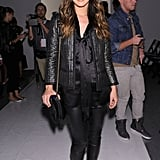 Unlike Lauren Conrad, Shenae Grimes opted for something a little darker at Tracy Reese. Her all-black uniform offered up yet another chic way to keep it sleek and monochromatic.