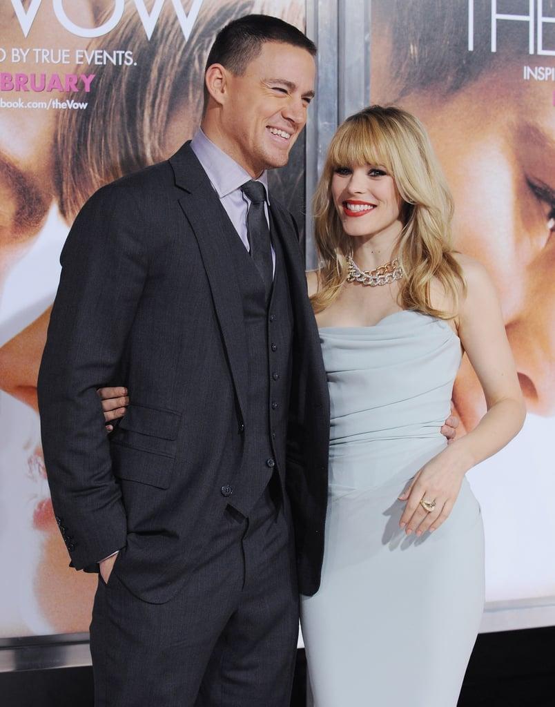 Channing Tatum and Rachel McAdams in 2012