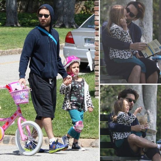 Tobey Maguire and His Daughter Have a Date in the Park