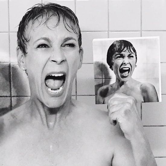 Jamie Lee Curtis Re-Creates Psycho For Scream Queens