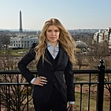 Fergie made her way to Washington DC for Avon's International Women's Day on Thursday.