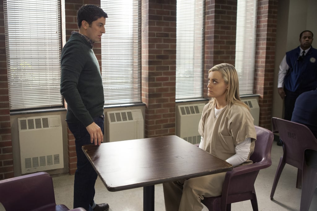 Larry (Jason Biggs) can't be too mad at Piper if he comes to visit, right? Source: Netflix