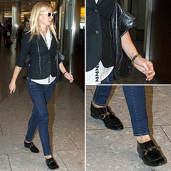 Gwyneth Paltrow At Heathrow Airport October 10 2011