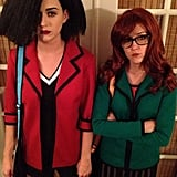 Katy Perry and Shannon Woodward as Jane and Daria