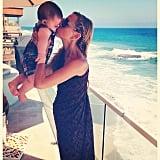Rachel Zoe grabbed a seaside smooch from Kaius while vacationing in the Hamptons. Source: Instagram user rachelzoe