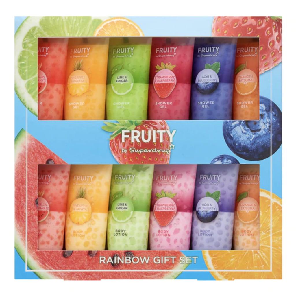 Superdrug Fruity Rainbow Shower Gel & Body Lotion Gift Set