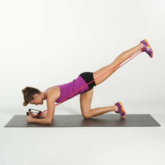 Butt Exercise Using Resistance Band