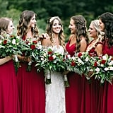 Gryffindor-Inspired Bridesmaid Dresses