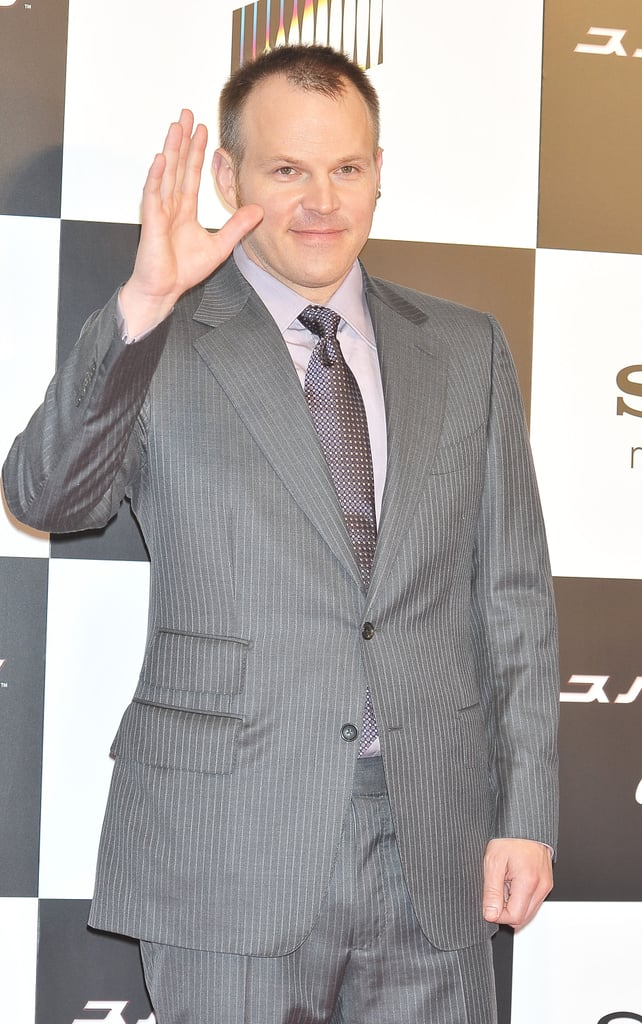 Director Marc Webb waved at The Amazing Spider-Man premiere in Japan.